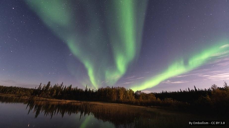 CANADA: AURORA BOREALE DI FINE ESTATE